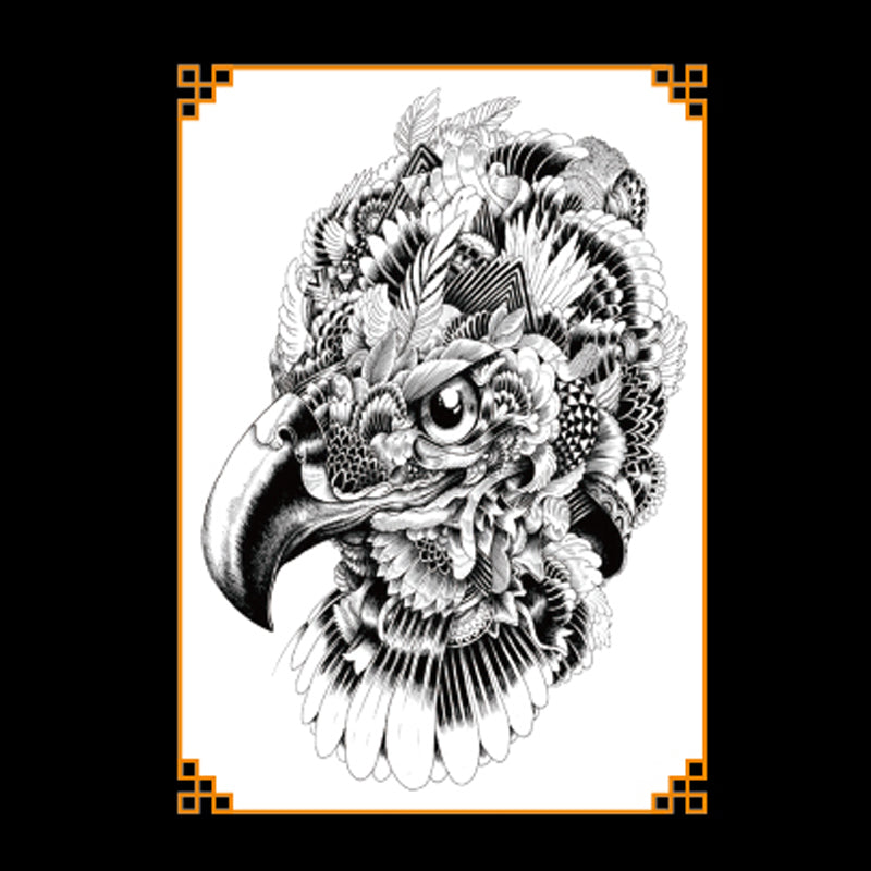 """Indian Eagle"" temporary tattoos - medium"