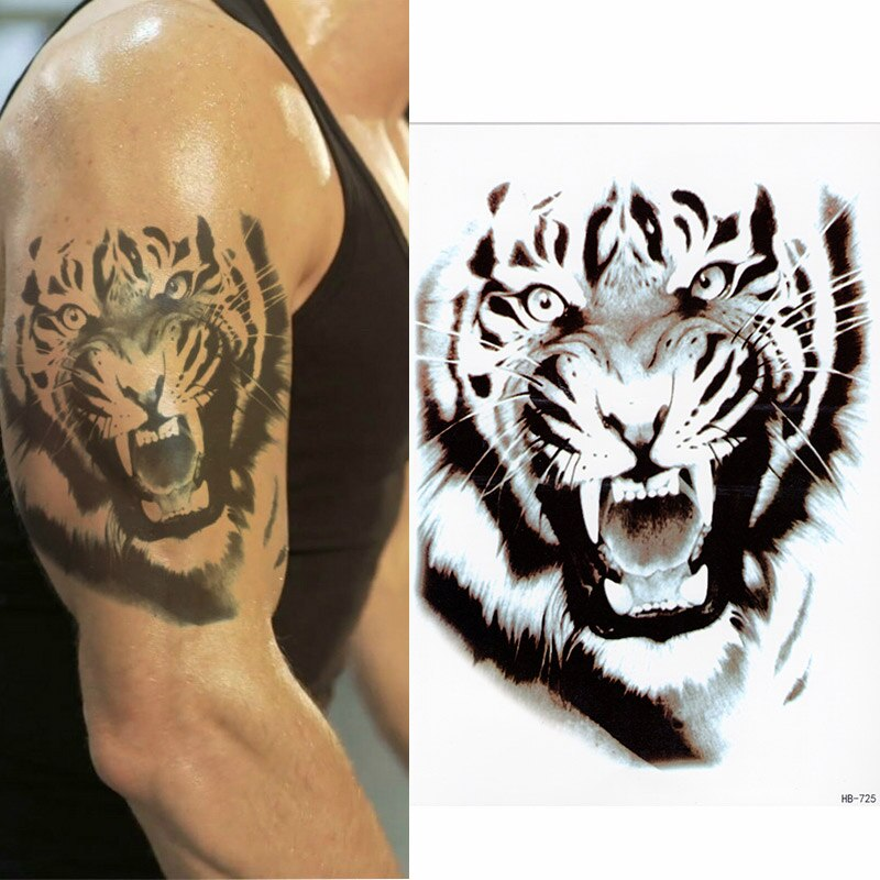 """Tiger 2"" temporary tattoos -medium"