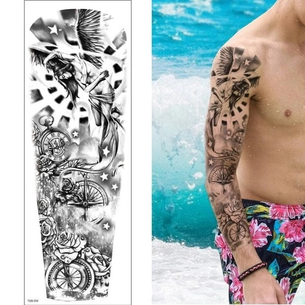 TQB-059 temporary tattoo sleeve