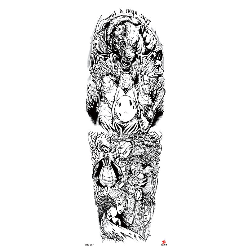 TQB-067 temporary tattoo sleeve