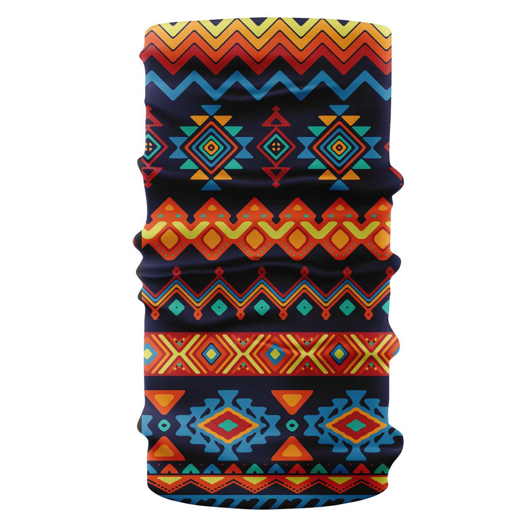 """Aztec"" native american pattern bandana, buff"