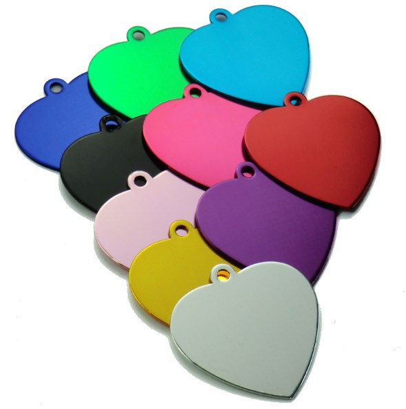 Heart shaped ID tags for pets