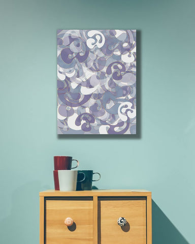 Generative art print by Mark Taggart installed in interior