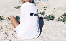 Load image into Gallery viewer, Mermaid Beach Cover Up Shirt