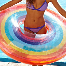 Load image into Gallery viewer, Rainbow pool floaty