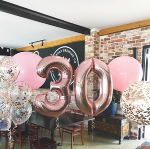 Rose Gold Helium Balloon Set
