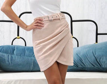 Load image into Gallery viewer, Suede High Waisted Skirt