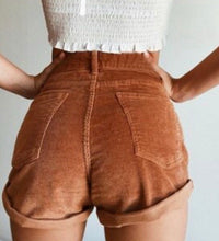 Load image into Gallery viewer, High Waisted Corduroy Shorts