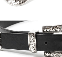 Load image into Gallery viewer, Metal Tipped Vegan Leather Belt
