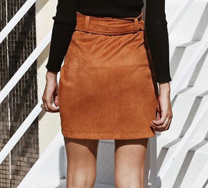 Suede High Waisted Skirt