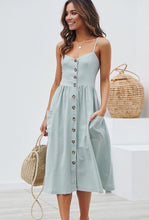 Load image into Gallery viewer, Button Front Summer Dress