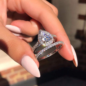 Teardrop Shape Wedding Ring