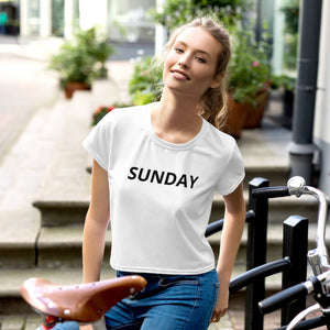 Sunday Crop Tee
