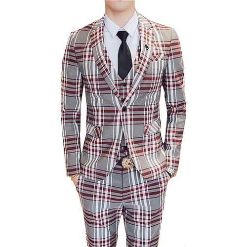 New Men Business Slim SuitsJacket + Pant + Vest