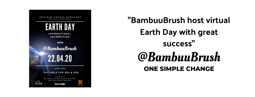 @BambuuBrush hosted World Earth Day with great success.