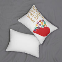 """Volunteers Are The Heart"" Spun Polyester Lumbar Pillow"