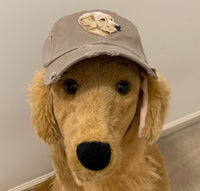 Golden Retriever Side Facing Embroidered Patch Baseball Hat for Humans