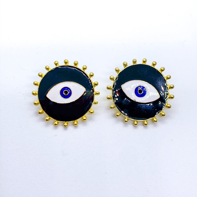 Black Eyes Earrings