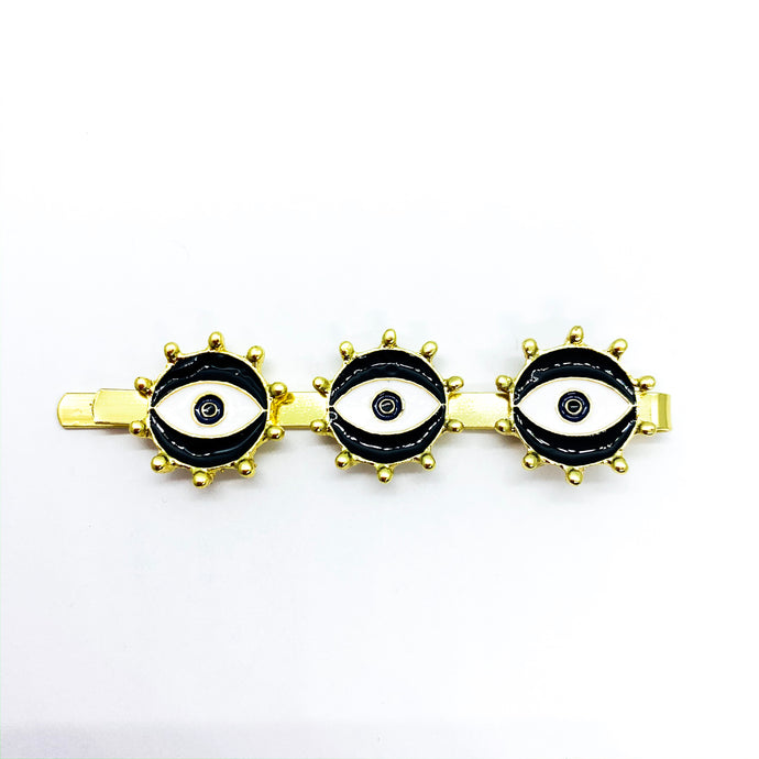 Black Eyes Hair Clip