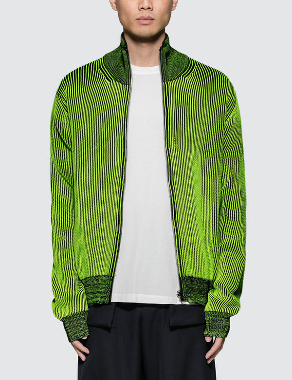 Maison Margiela Reversible Knitted Zip up Cardigan