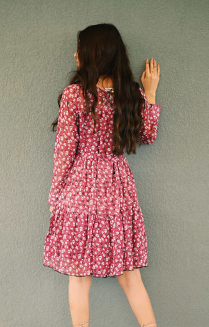October Floral Frill Dress