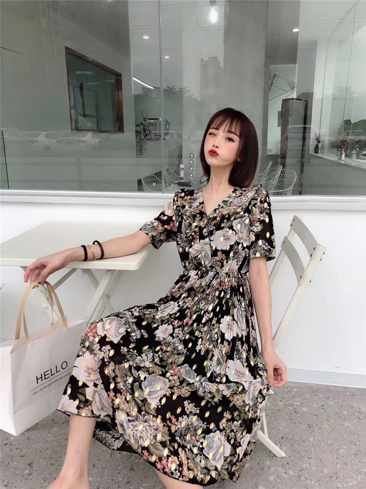 Luna Floral High-Low Dress