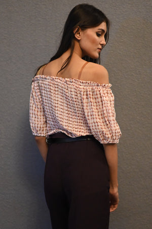 Aria Abstract Off Shoulder Blouse