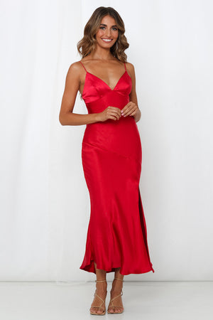 Archie Red Maxi Dress