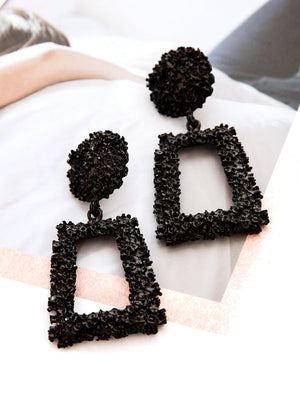 Mariana Geometric Earrings- Black