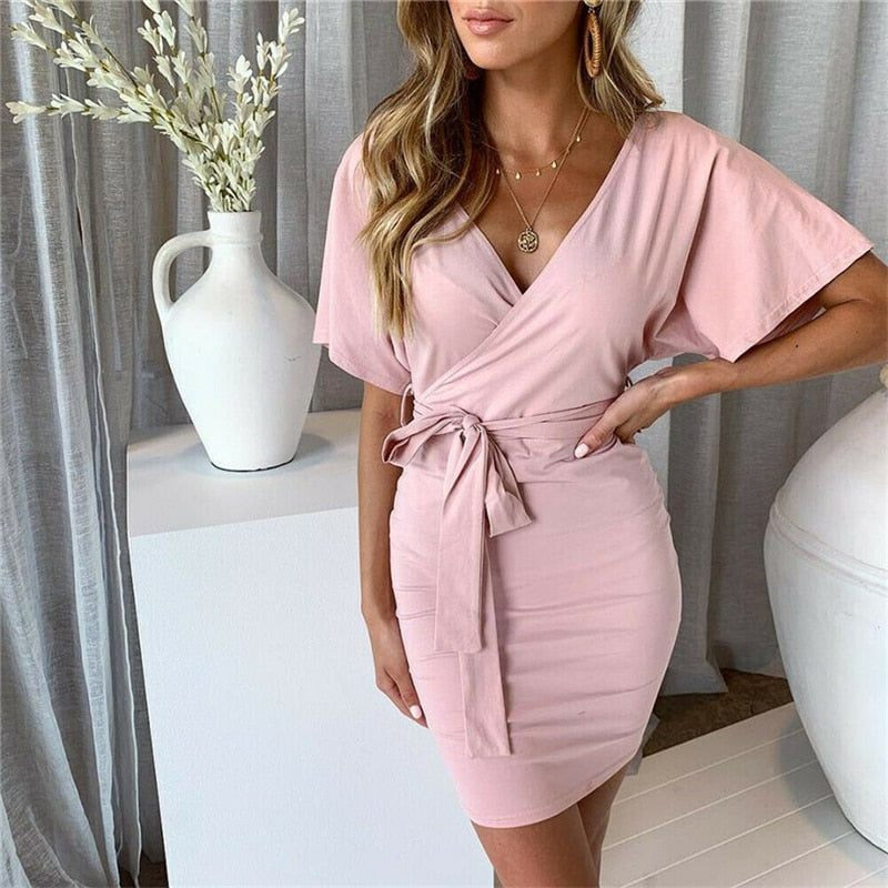 Margaret Wrap Knot Dress