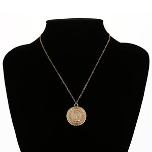 Leopold Simple Vintage Carved Coin Pendant