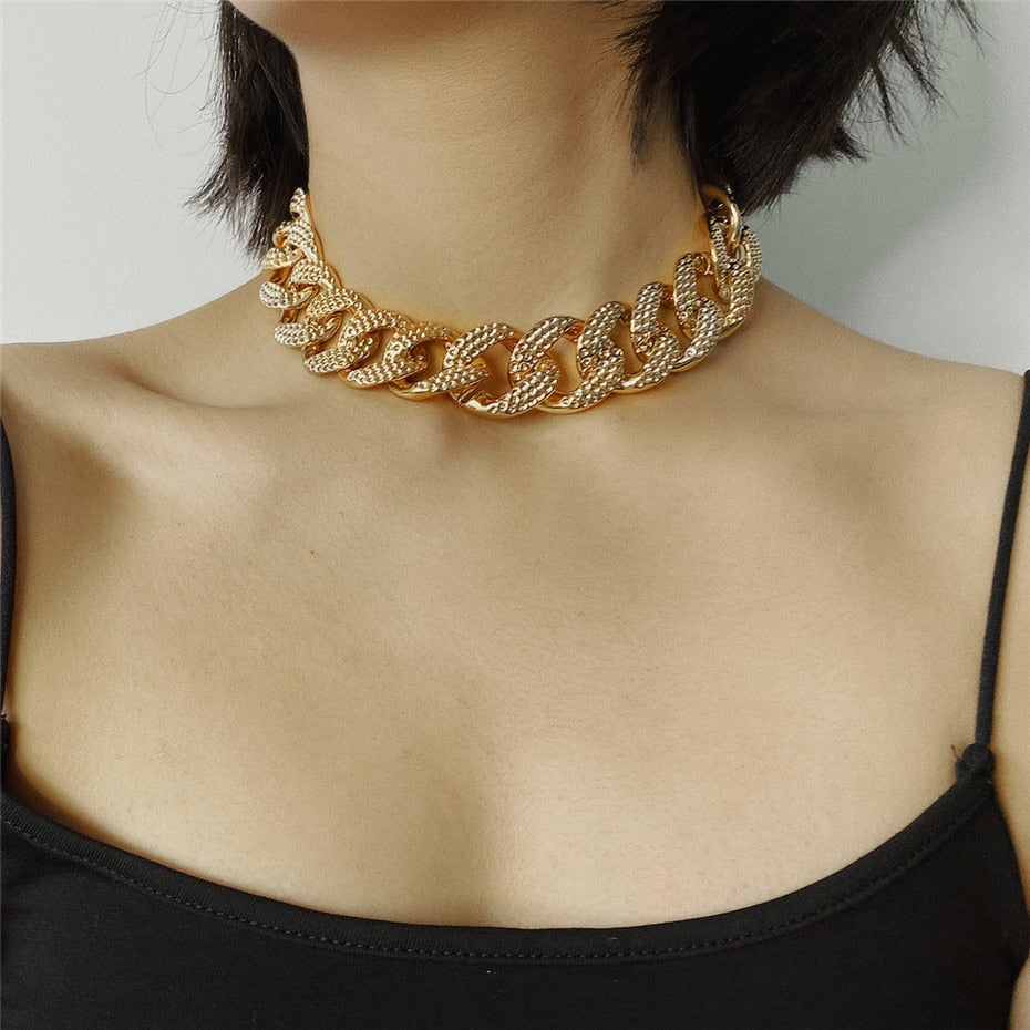 Quentin Statement Big Necklace Chain Style Linked