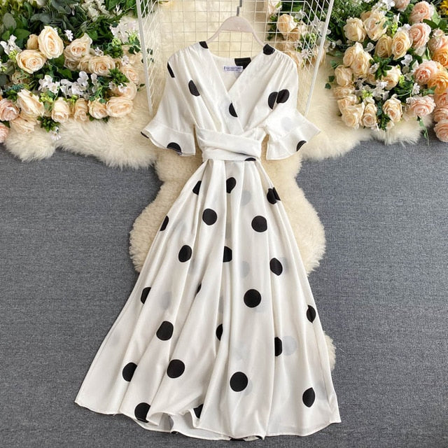 Maisie Polka Dot Wrap Dress