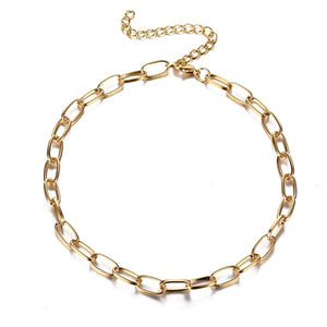 Romain Multi Layered Link Chain Neckpiece