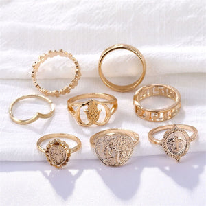 Ruhana 15 Pcs/Set Rings