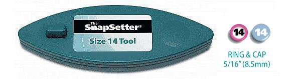 The SnapSetter Size 14 tool for Rings and Caps