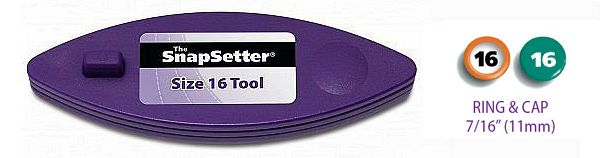 The SnapSetter Size 16 tool for Rings and Caps