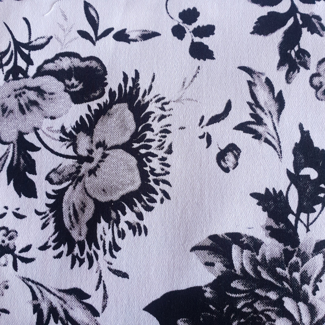 Cotton Spandex Fabric - Floral - You've Got Me In Stitches