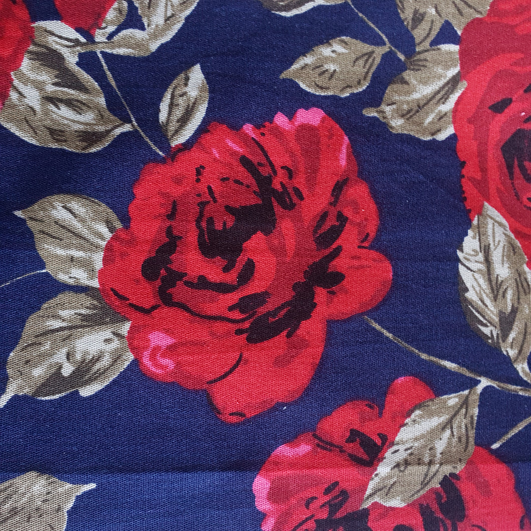 Woven Cotton Spandex Fabric - Floral - You've Got Me In Stitches