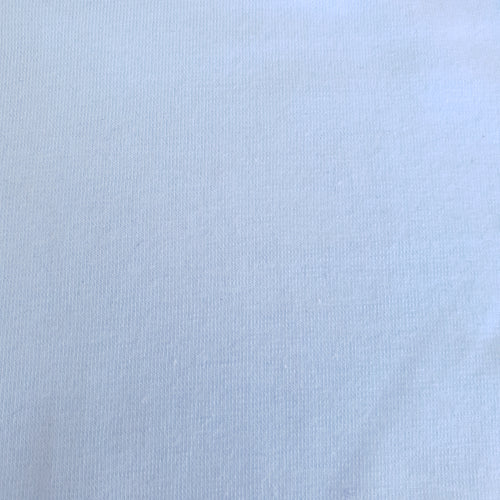 Light Blue Polyester Cotton Spandex Lycra Fabric - You've Got Me In Stitches