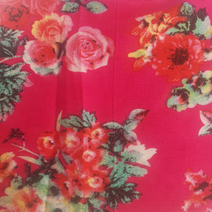 100% Rayon Fabric -  Floral Print
