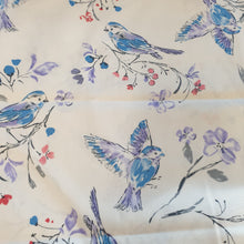 Load image into Gallery viewer, Bluebirds Cotton Poplin Fabric