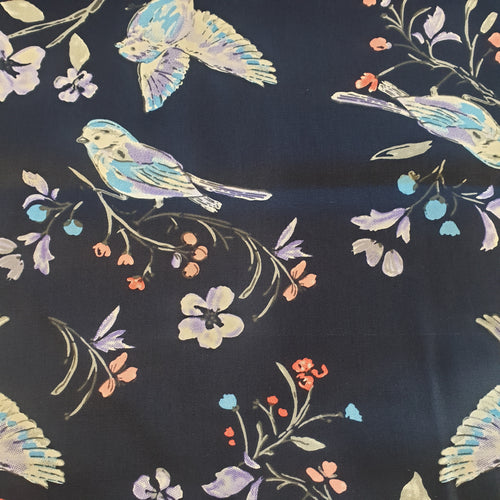 Bluebirds Cotton Poplin Fabric