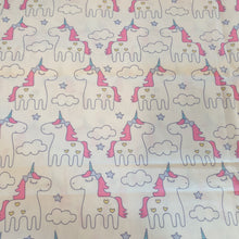 Load image into Gallery viewer, Unicorn Cotton Poplin Fabric - You've Got Me In Stitches