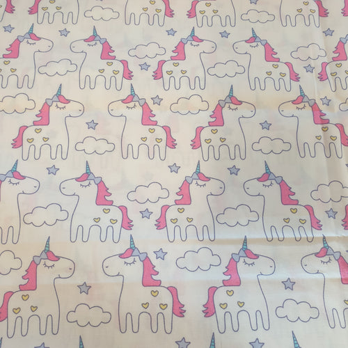 Unicorn Cotton Poplin Fabric - You've Got Me In Stitches
