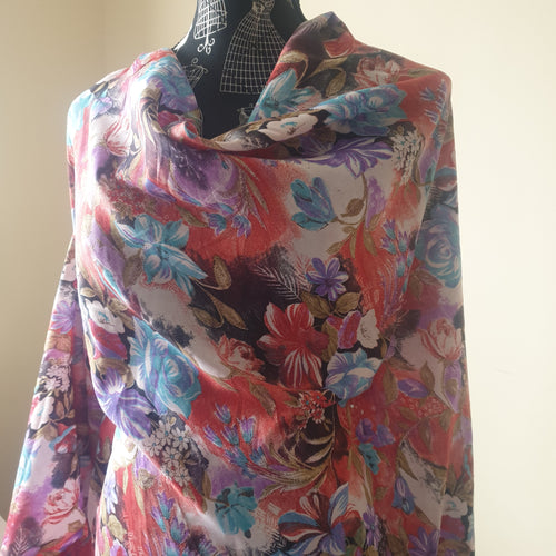 Rayon Fabric - Multi coloured floral - You've Got Me In Stitches