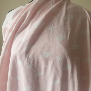 Pink Clouds - 2 way stretch 100% Cotton Jersey - You've Got Me In Stitches