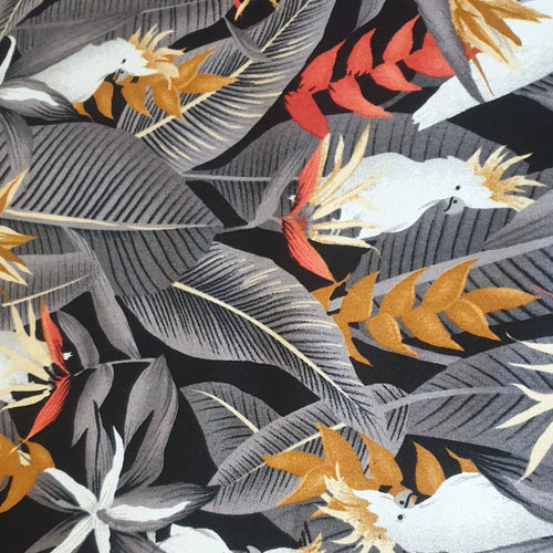 Cockatoo Cotton Poplin Fabric - You've Got Me In Stitches