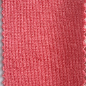 Solid Colour - Pink - 2 way stretch 100% Cotton Jersey Fabric