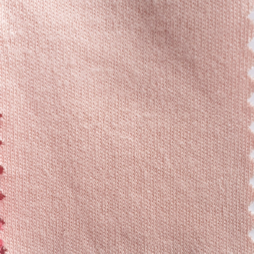 Solid Colour - Pastel Pink - 2 way stretch 100% Cotton Jersey Fabric - You've Got Me In Stitches